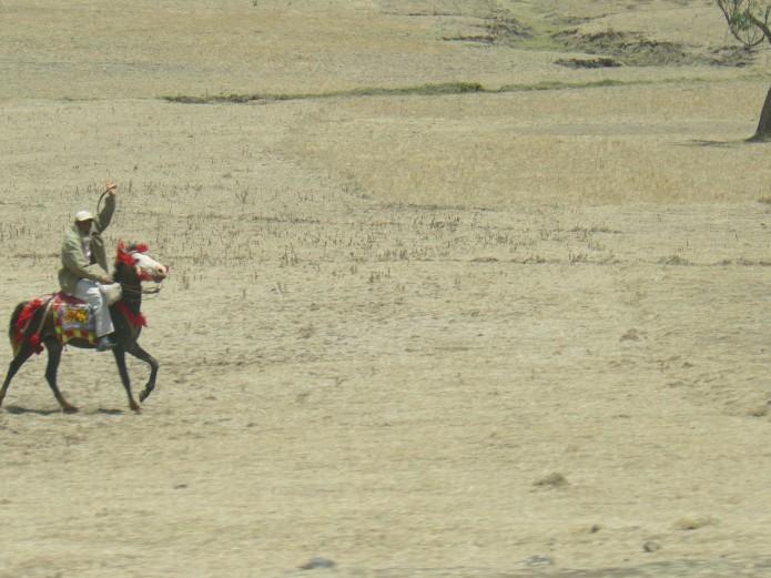 Cavalier en Ethiopie