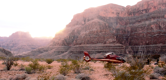 heli in canyon