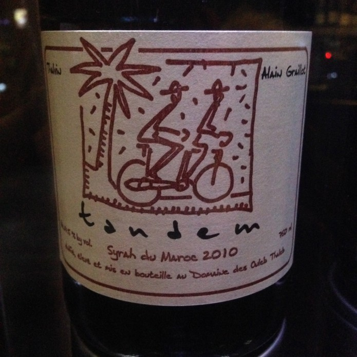 Tandem vin maroc syrah rouge wine by one